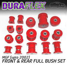 MGF (upto 2002) FRONT & REAR BUSH SET Red Duraflex PRO Polyurethane