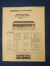 ONKYO T-9 SERVICE MANUAL ORIGINAL FACTORY ISSUE GOOD CONDITION