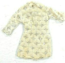 Barbie Vtg Mod Maddie Mego White Mini Wedding Dress Lace Sparkle 1 Gold Button