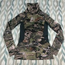 Under Armour Women's ColdGear Reactor Cowl Neck Top Forest Camo Shirt Size S