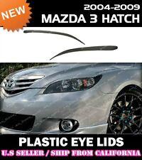 *** 04-09 MAZDA 3 MAZDA3 HATCHBACK Headlight Eyelids Cover Eye Lids (ABS) ***