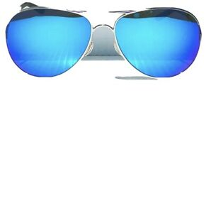 LENS ONLY Oakley CAVEAT Silver Aviator w POLARIZED Galaxy Sapphire Blue LensES