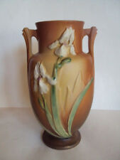 "Vintage Original Roseville Large 12 1/4"" Tall Iris Vase 928-12"". Beautiful Look!"