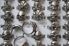 10pcs Wholesale Jewelry Lots Mixed Style Skull Alloy Thin Rings Free Shipping