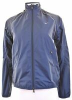 NIKE Womens Over Jacket UK 10 Small Navy Blue Polyester  JS14