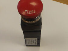 Red Stop Emergency Push Button Pneumatic Valve  5/2 Latching 1/4 BSP, Two way