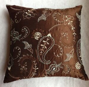 """CUSTOM Made Decorative PILLOW Size: 20 x 20"""" New SHIP FREE Teal Green / Brown"""
