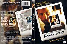 Memento (DVD, 2001) Directed by Christopher Nolan Starring Guy Pearce