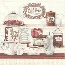 2 Serviettes en papier Café de Paris Boutique - Paper Napkins Coffee House