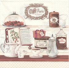 2 Serviettes en papier Café de Paris Boutique - Paper Napkins Coffee House