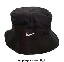 1990's NIKE SWOOSH BUCKET HAT CAP BLACK OG DS VINTAGE CLASSIC UNISEX SIZE M-L