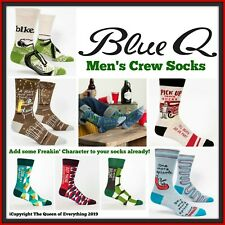 Men's Blue Q Socks 🧦 Stay Home in Style! 🧦 Shoe Size 7-12 🧦 Buy 2 & SAVE 🧦