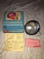 Vintage Working GE Hollywood Cameralite Super 8 Camera Light W/ Box Model No 919