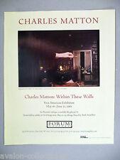 Charles Matton Art Gallery Exhibit PRINT AD - 2002