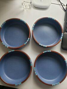 Dansk Mesa Sky Blue Coupe Soup Bowl Portugal Set of 4