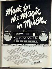 CLARION CAR STEREO CASSETTE / SCOTCH AUDIO TAPE  ORIGINAL VTG 1979 PHOTO AD,