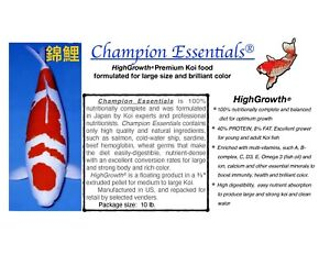 Premium Japanese koi food for fast growth, brilliant color, and excellent health