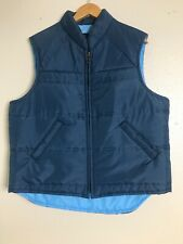 Vintage Sears Thermal Vest Mens Size Large Blue