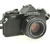 Pentax MV Film Camera & Pentax 50mm F2 Prime Lens - Working - New Batteries