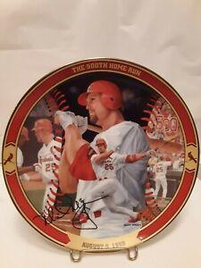 Mark McGwire Big Mac Milestones 2-Plate Set, St. Louis Cardinals
