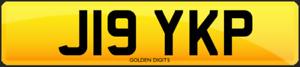 J19 YKP PRIVATE CHERISHED PERSONALISED REG REGISTRATION NUMBER PLATE JAY JAYSEL