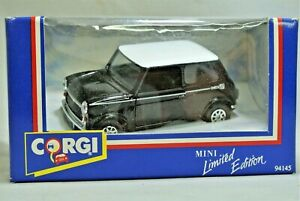 Mint Corgi 94145 Mini in Black with White Roof & Check Decal