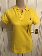 BNWT Ralph Lauren Skinny Fit Yellow Polo Shirt Size M.