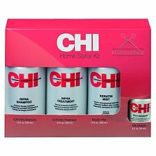 CHI Set Infra Shampoo 350ml Keratin Mist 350ml Treatment 350ml Silk Infusion 50m