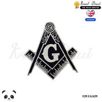 Free Mason Symbol Embroidered Iron On Sew On Patch Badge For Clothes etc