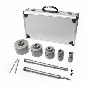 122592 9PC SDS MAX Plus Brick TCT Carbide Concrete Hole Saw Core Drill Bits Kit