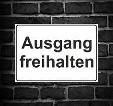 """Schild Hinweisschild Hinweis """"Ausgang freihalten"""" Parkverbot Verbot Ausfahrt"""