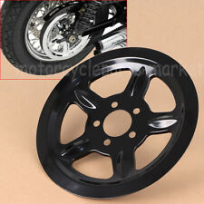 Black Outer Rear Pulley Insert Cover For Harley Davidson Sportster XL 2004-2016