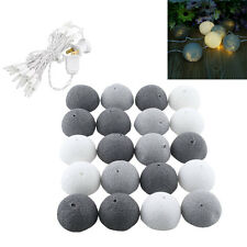 20 Cotton Ball Fairy String Light Party Patio Tree Decor Decoration 3M