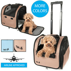Pet Life Wheeled Travel Pet Dog or Cat Carrier