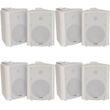 "8x 90w White Wandmontage Stereo Lautsprecher –5.25"" 8 Ohm – Qualität Home Audio Musik"