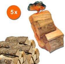5 sacchi da 15 kg legna da ardere Rovere tronchetti per camino stufa da 33 cm