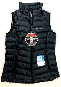 Columbia Women's Black Size Small Platinum 860 TurboDown Vest