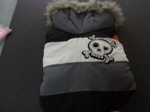 gray Skull Fur Hoodie Jacket Simply Dog S Small new pet coat