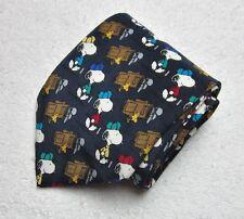 """Snoopy Peanuts Golf Necktie Tie """"Good Caddies Are hard To Find"""" 100% Silk"""
