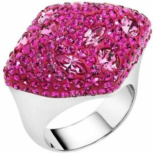 NIB$299 Atelier Swarovski Core Collection Moselle Ring Large Fuchsia 52 55 58
