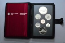1984 CANADA PROOF LIKE 7 COIN  UNC SET IN HARD PLASTIC CASE