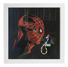 Lego Frame Superhero Spiderman Custom Minifigure Display Case Picture Frame