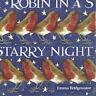 20 SERVIETTEN NAPKINS ROBIN IN A STARRY NIGHT 25X25 ROTKEHLCHEN © E.BRIDGEWATER