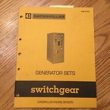 CAT Caterpillar GENERATOR GENSET SWITCHGEAR GUIDE HANDBOOK MANUAL LEDX8040 BOOK
