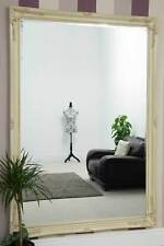 Extra Large Classic Ornate Styled Ivory Mirror 6Ft7 X 4Ft7 201cm X 140cm