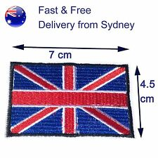 British Flag iron on patch- UK flag - Great Britain flag national Union Jack