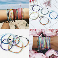 Fashion Colorful Thread Woven Friendship Cords Hippie Anklet Braided Bracelets