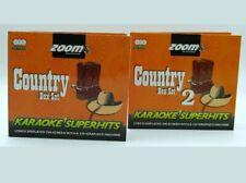 Zoom Karaoke CD+G - Classic Country Superhits Vol  1 & 2  -  6 CDGs  132 TRACKS
