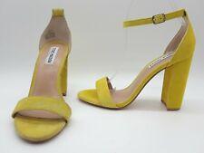 de99ca0624d Steve Madden Carrson Women Shoes Ankle Strap Yellow Suede Heels Sz 8 M