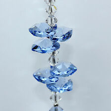 Sale 40mm Lt Sapphire Heart, 14mm Stacked Hearts SunCatcher mw Swarovski Crystal